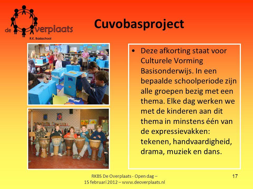 17 Cuvobasproject Deze afkorting staat voor Culturele Vorming Basisonderwijs.