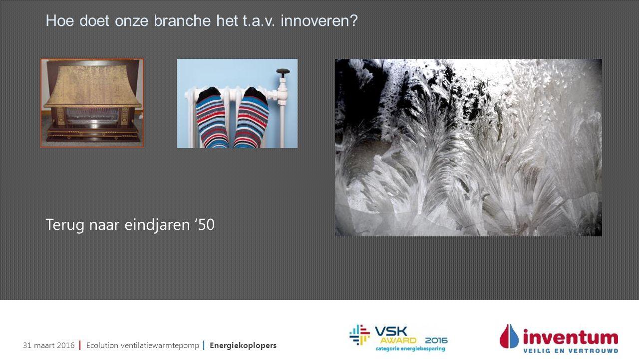 31 maart 2016 | Ecolution ventilatiewarmtepomp | Energiekoplopers Hoe doet onze branche het t.a.v.