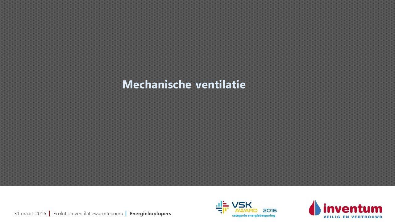31 maart 2016 | Ecolution ventilatiewarmtepomp | Energiekoplopers Mechanische ventilatie