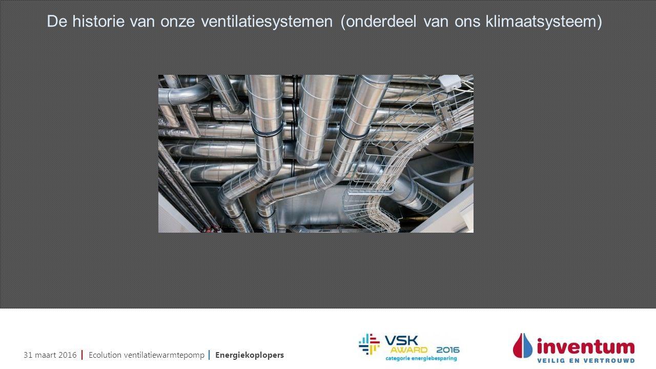 31 maart 2016 | Ecolution ventilatiewarmtepomp | Energiekoplopers De historie van onze ventilatiesystemen (onderdeel van ons klimaatsysteem)
