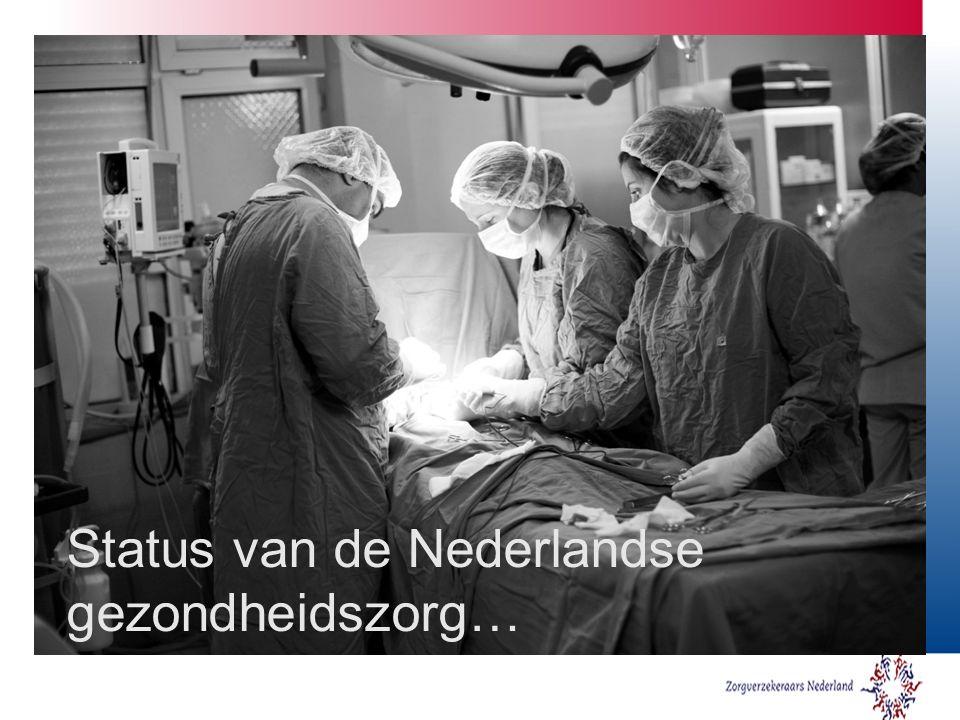 Status van de Nederlandse gezondheidszorg…