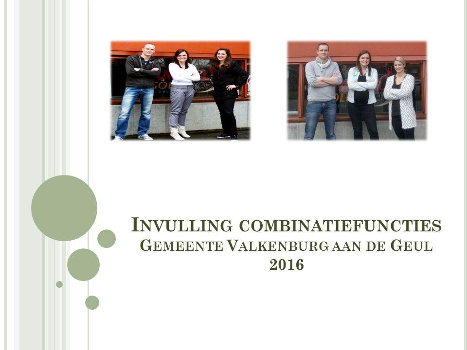 I NVULLING COMBINATIEFUNCTIES G EMEENTE V ALKENBURG AAN DE G EUL 2016
