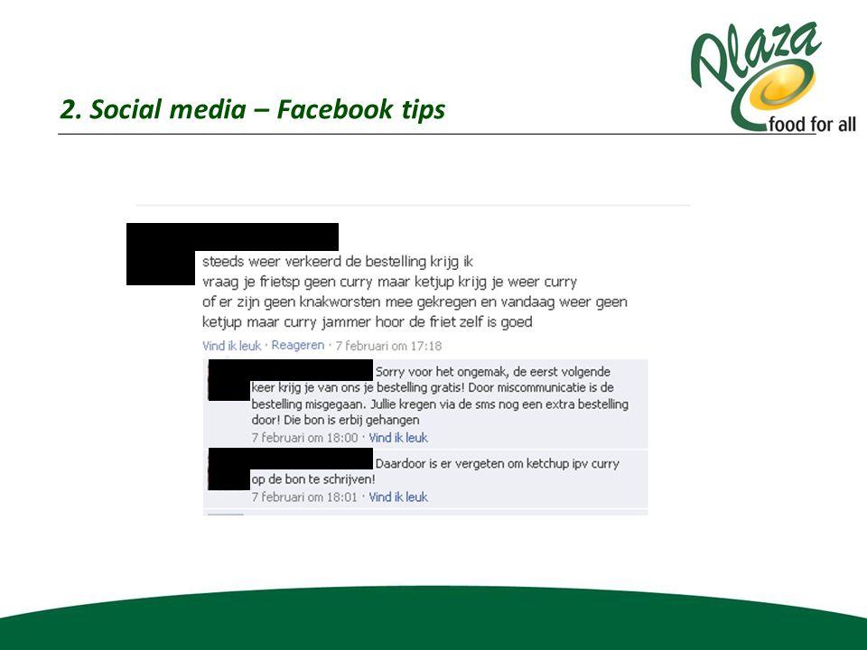2. Social media – Facebook tips