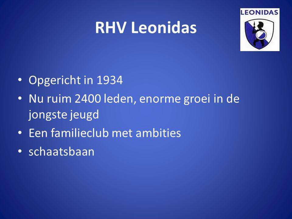 RHV Leonidas Opgericht in 1934 Nu ruim 2400 leden, enorme groei in de jongste jeugd Een familieclub met ambities schaatsbaan
