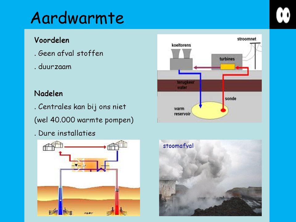 Aardwarmte stoomafval Voordelen. Geen afval stoffen.