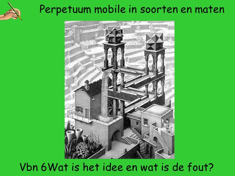 Perpetuum mobile in soorten en maten Vbn 6Wat is het idee en wat is de fout