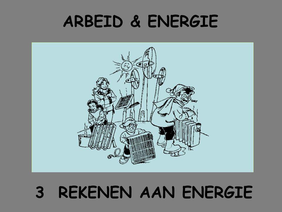 ARBEID & ENERGIE 3 REKENEN AAN ENERGIE