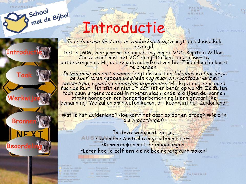 Taak Wat gaan we doen.Je krijgt in deze webquest een heleboel informatie over Australië.
