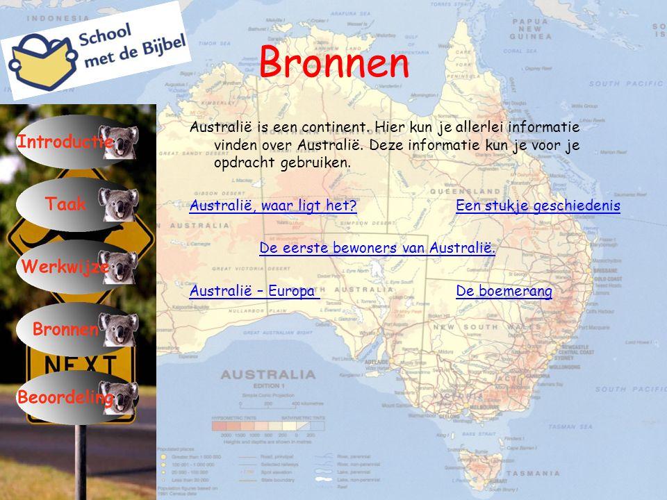 Bronnen Australië is een continent. Hier kun je allerlei informatie vinden over Australië. Deze informatie kun je voor je opdracht gebruiken. Australi