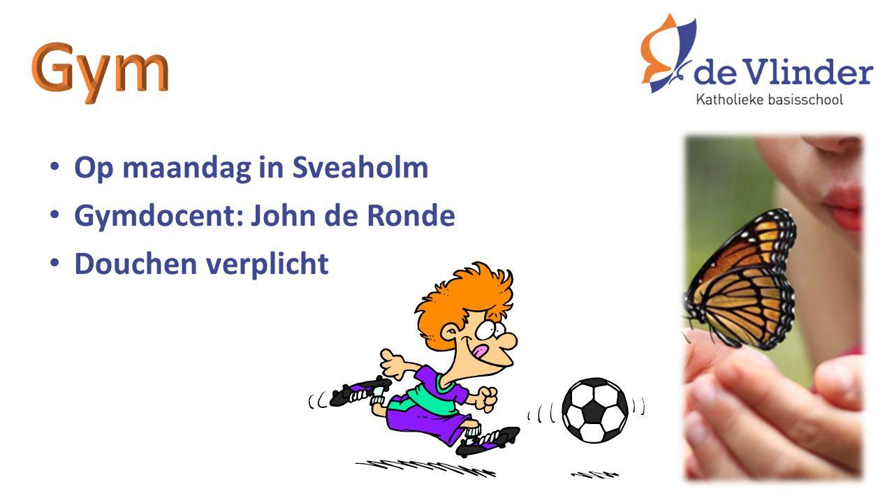 Op maandag in Sveaholm Gymdocent: John de Ronde Douchen verplicht