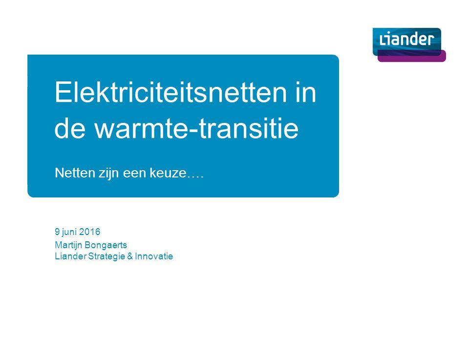 Netten zijn een keuze…. Martijn Bongaerts Liander Strategie & Innovatie Elektriciteitsnetten in de warmte-transitie 9 juni 2016