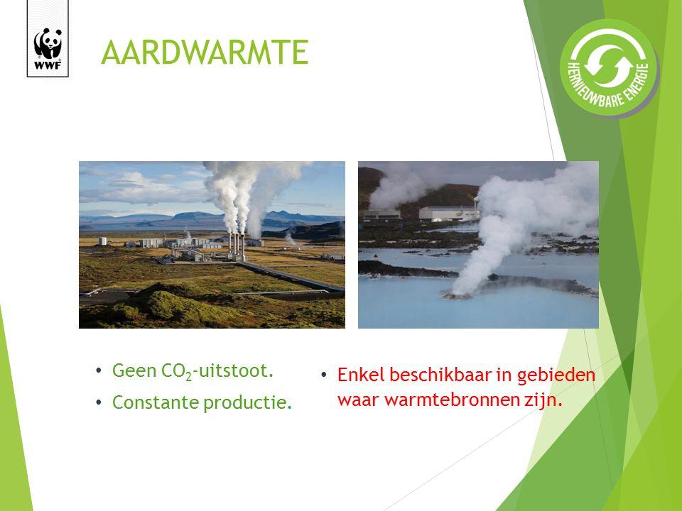 AARDWARMTE Geen CO 2 -uitstoot.Constante productie.