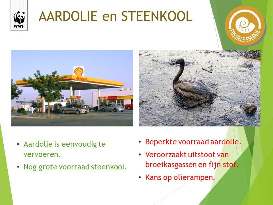 AARDOLIE en STEENKOOL Aardolie is eenvoudig te vervoeren.