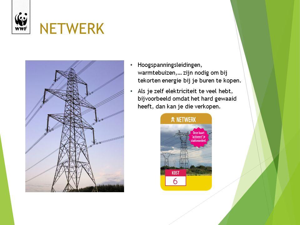 NETWERK Hoogspanningsleidingen, warmtebuizen,… zijn nodig om bij tekorten energie bij je buren te kopen.