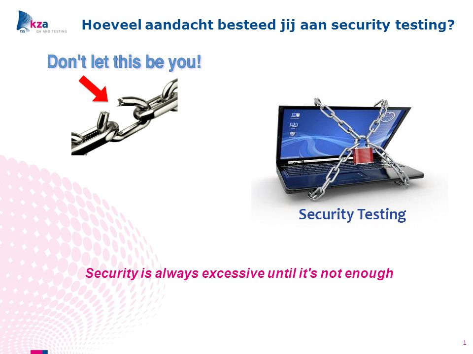 Hoeveel aandacht besteed jij aan security testing.