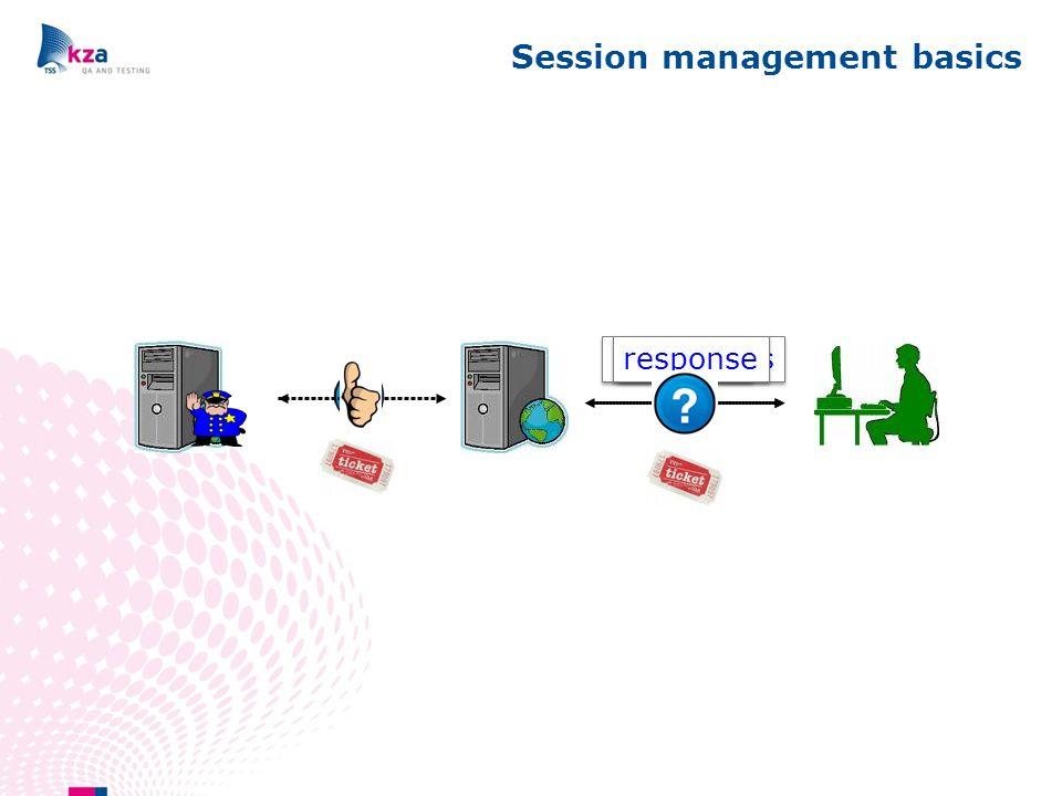 Session management basics request credentials response