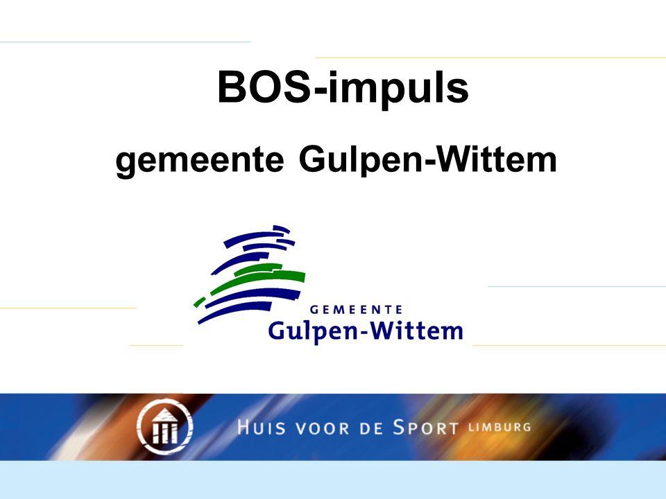 BOS-impuls gemeente Gulpen-Wittem