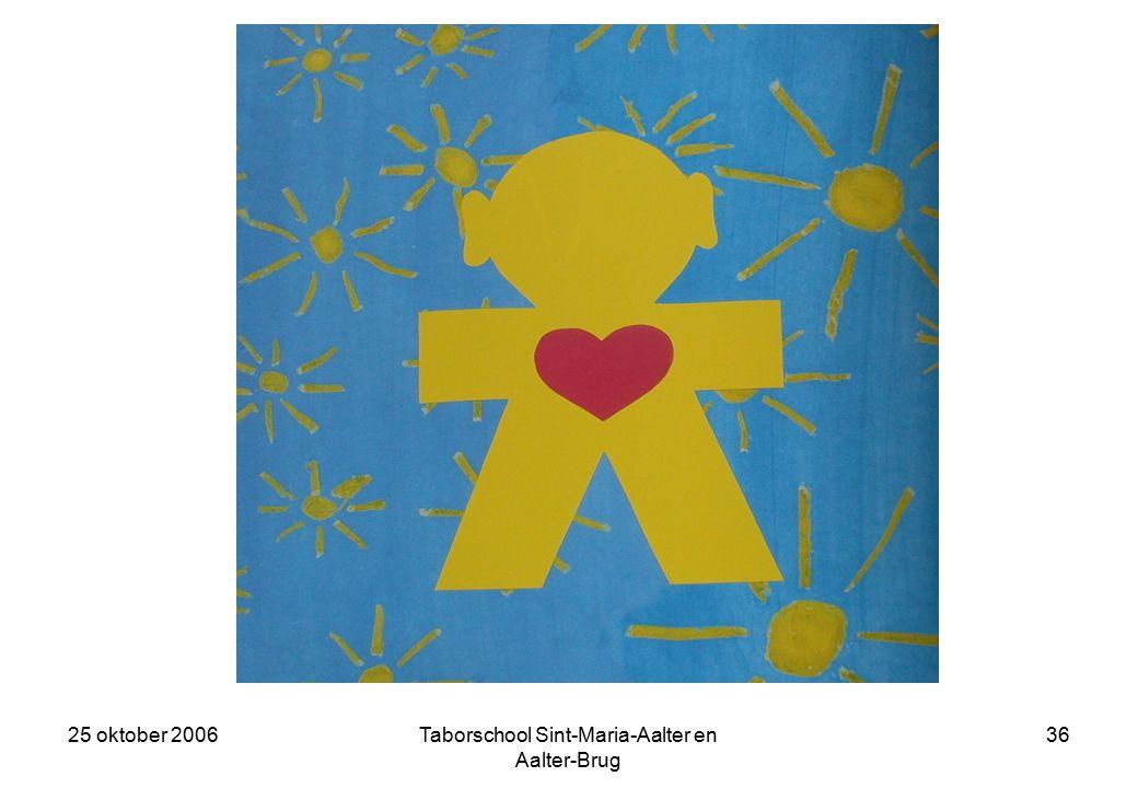 25 oktober 2006Taborschool Sint-Maria-Aalter en Aalter-Brug 35 Geweld kenden wij in ons groepje niet.