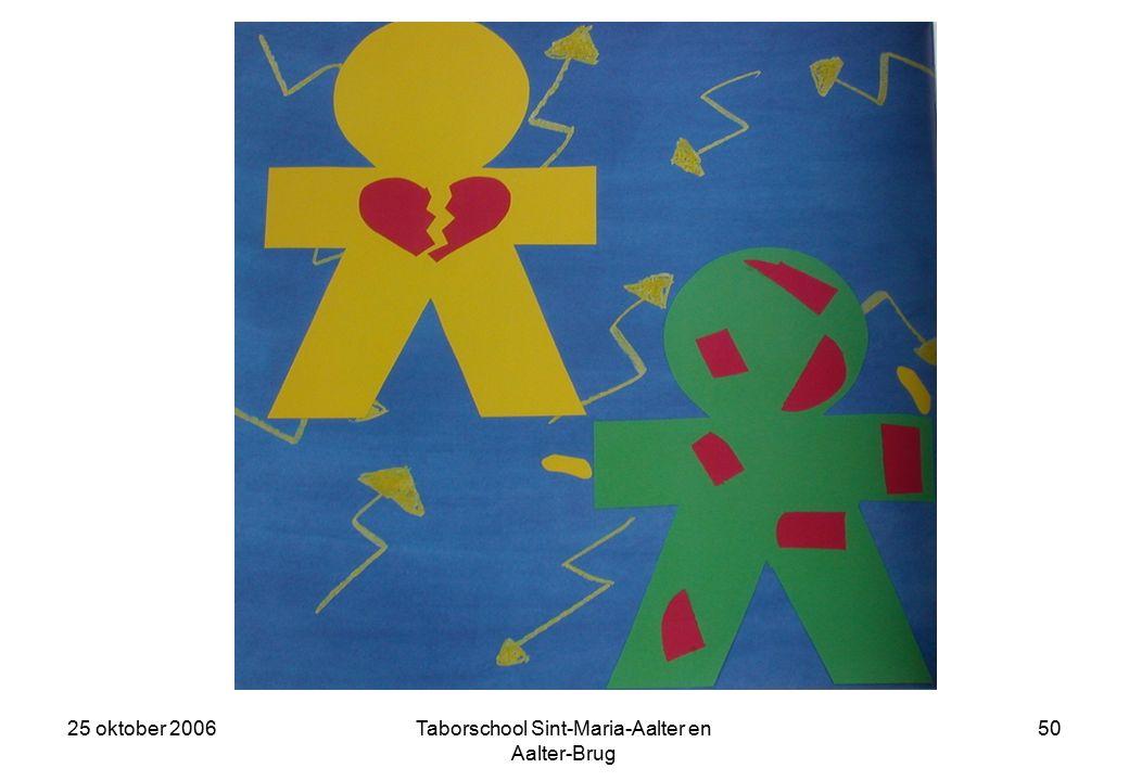 25 oktober 2006Taborschool Sint-Maria-Aalter en Aalter-Brug 49 We lieten onze handen los en keken mekaar bang aan.