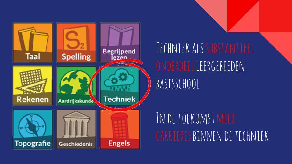 Techniek als substantieel onderdeel leergebieden basisschool In de toekomst meer carrieres binnen de techniek