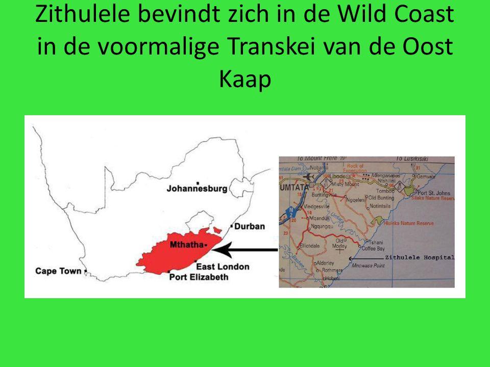 Zithulele bevindt zich in de Wild Coast in de voormalige Transkei van de Oost Kaap