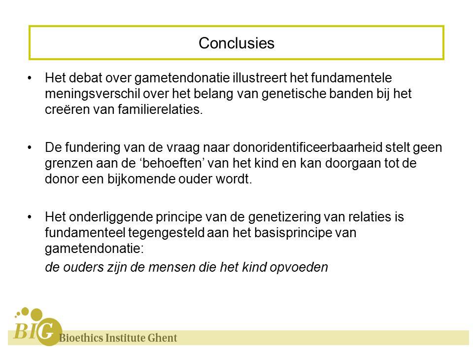 Het debat over gametendonatie illustreert het fundamentele meningsverschil over het belang van genetische banden bij het creëren van familierelaties.