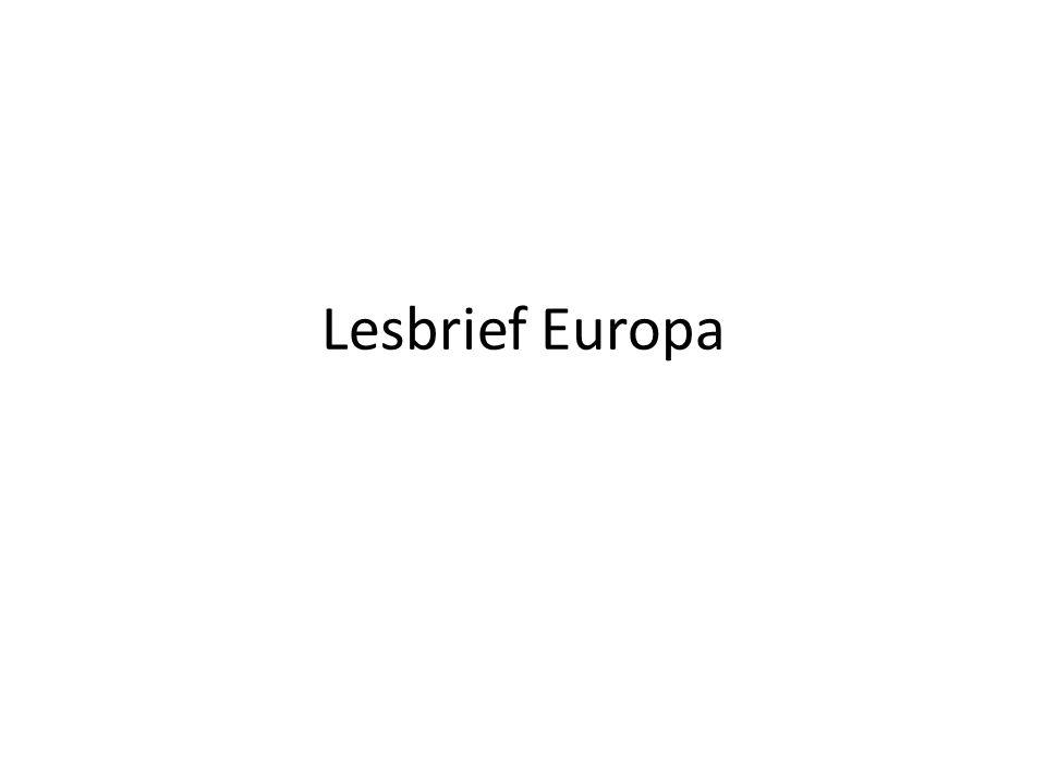 Lesbrief Europa