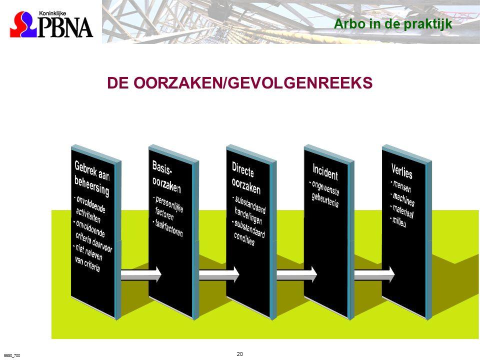 DE OORZAKEN/GEVOLGENREEKS 20 6650_700 Arbo in de praktijk