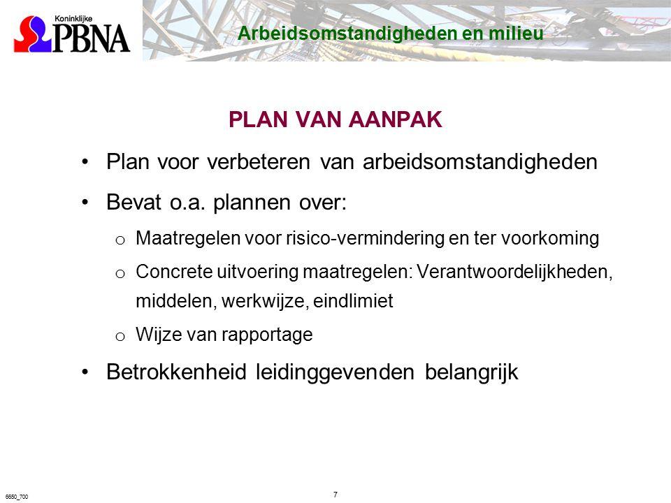 28 6650_700 Taak Risico Analyse  RI&E op projectniveau start werkvoorbereiding analyse van de gevaren bij uitvoering van risicovolle taken of bij werken in risicovolle omgeving veiligheid en de gezondheid van werknemers.