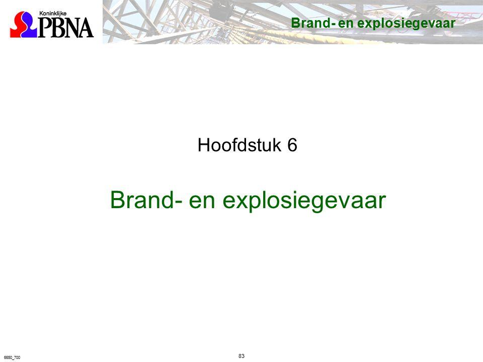83 6650_700 Brand- en explosiegevaar Hoofdstuk 6 Brand- en explosiegevaar
