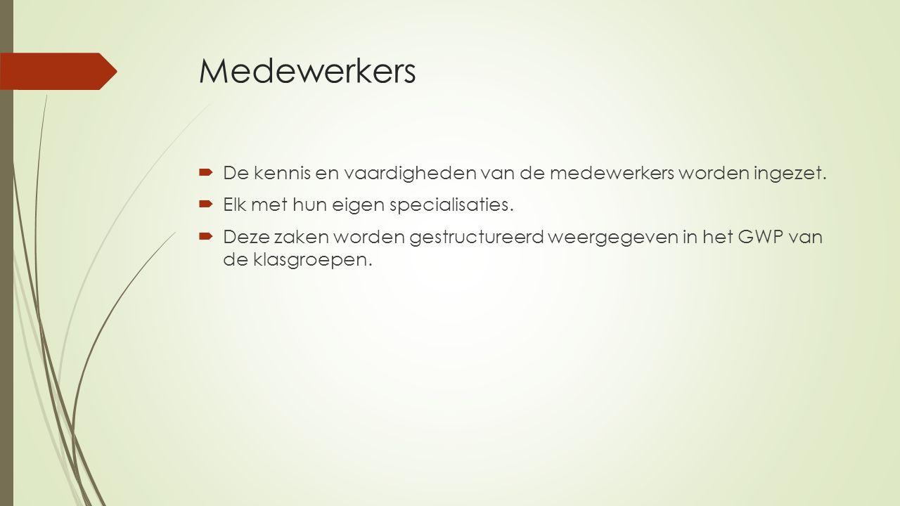 Medewerkers  De kennis en vaardigheden van de medewerkers worden ingezet.