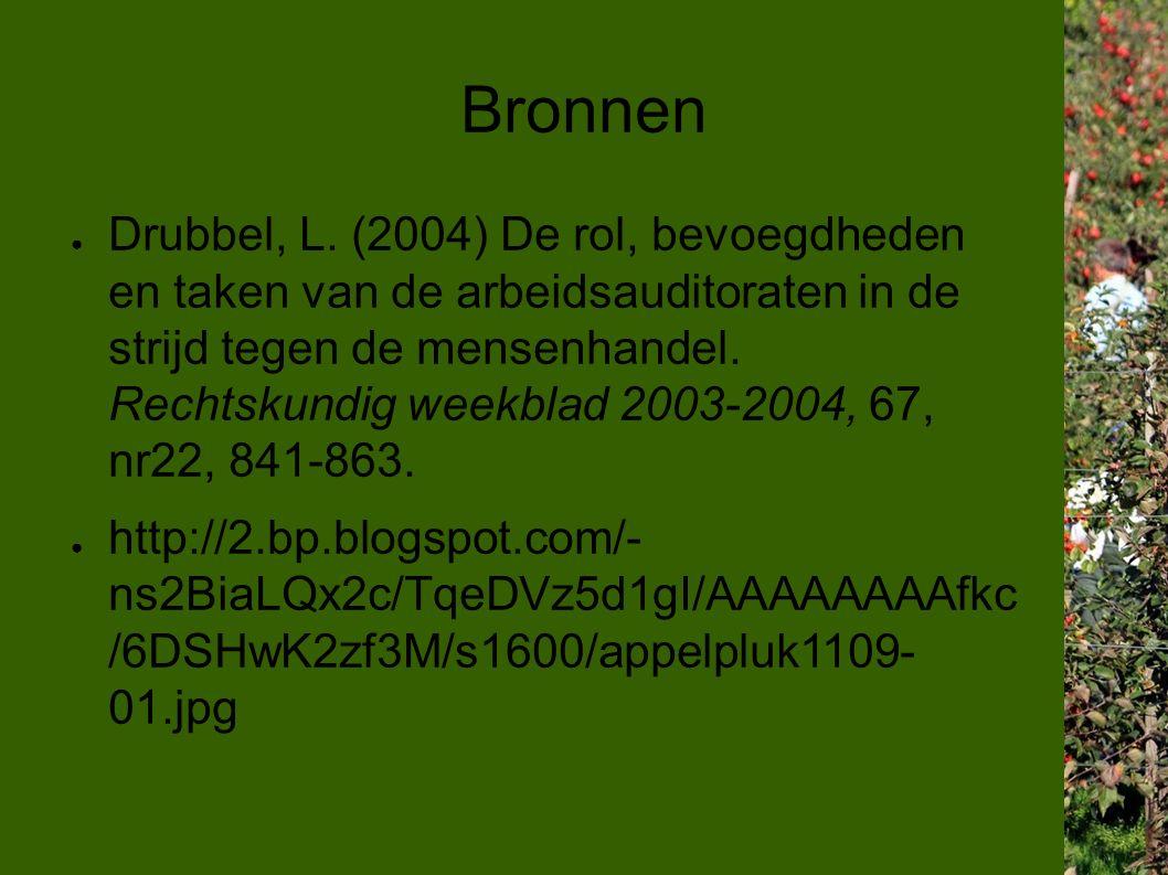 Bronnen ● Drubbel, L.