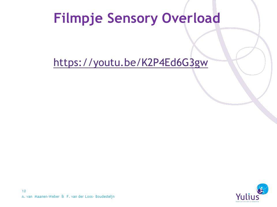 Filmpje Sensory Overload 10 https://youtu.be/K2P4Ed6G3gw A.