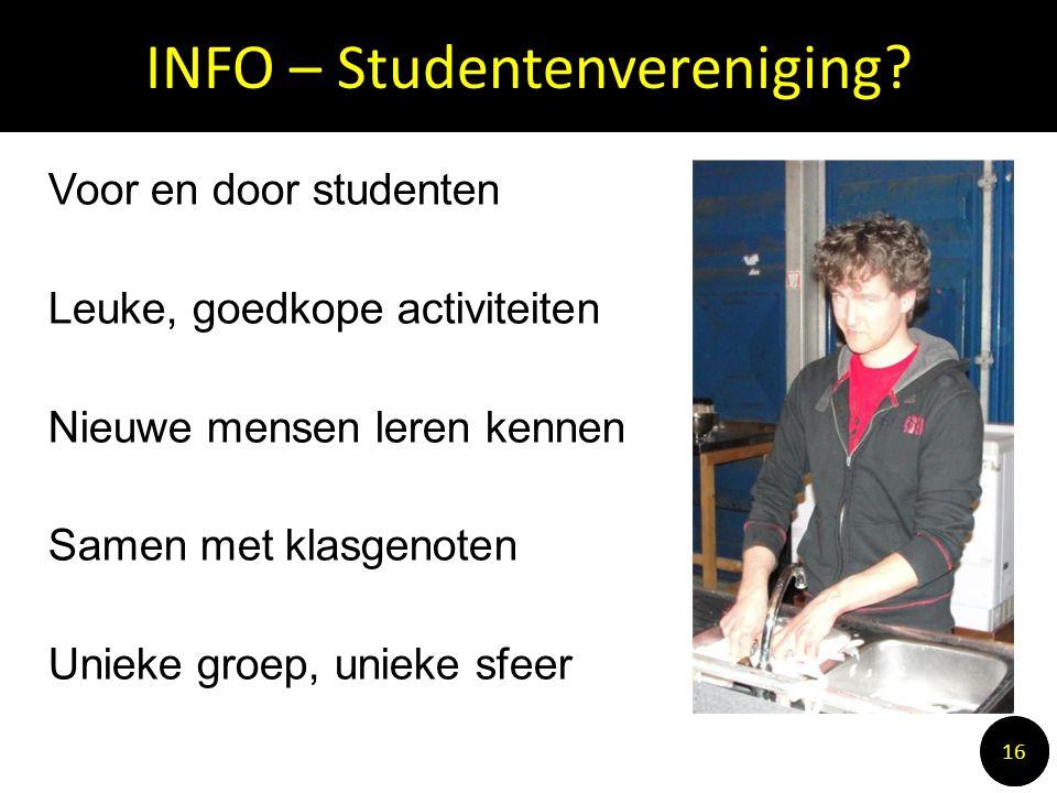 INFO – Studentenvereniging.