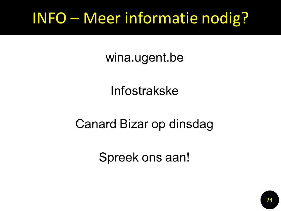 INFO – Meer informatie nodig.