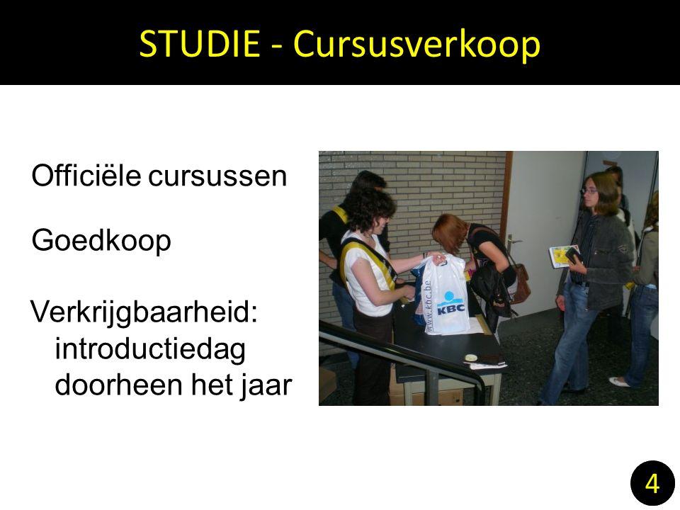 STUDIE - Cursusverkoop 4 Officiële cursussen Goedkoop Verkrijgbaarheid: introductiedag doorheen het jaar 4