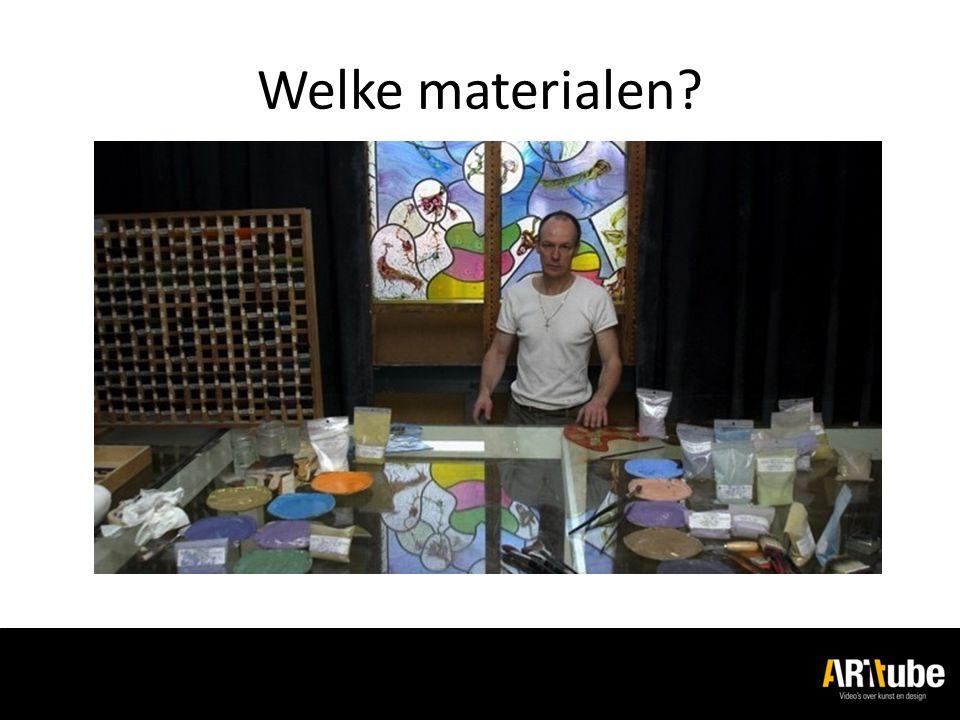 Welke materialen