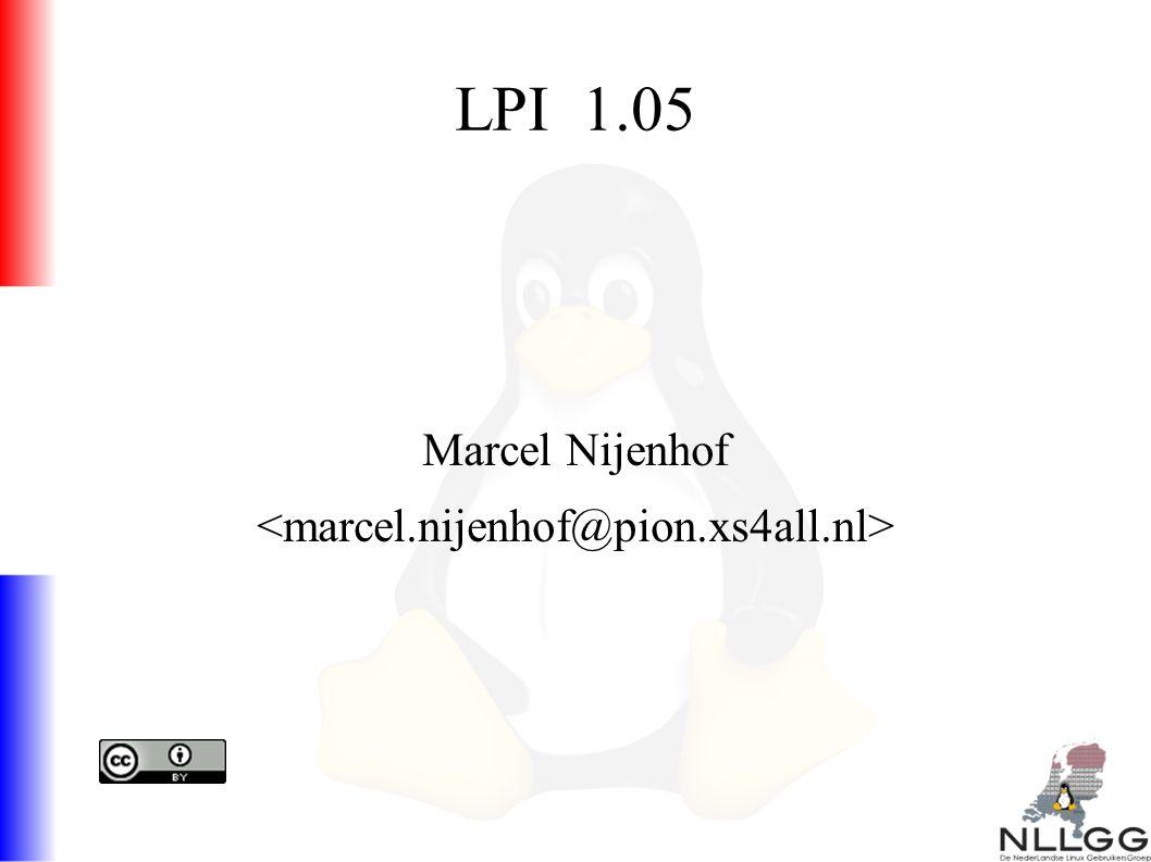 LPI 1.05 Marcel Nijenhof