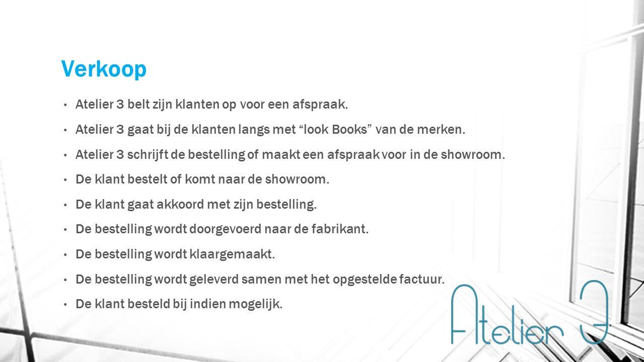Verkoop Atelier 3 belt zijn klanten op voor een afspraak.