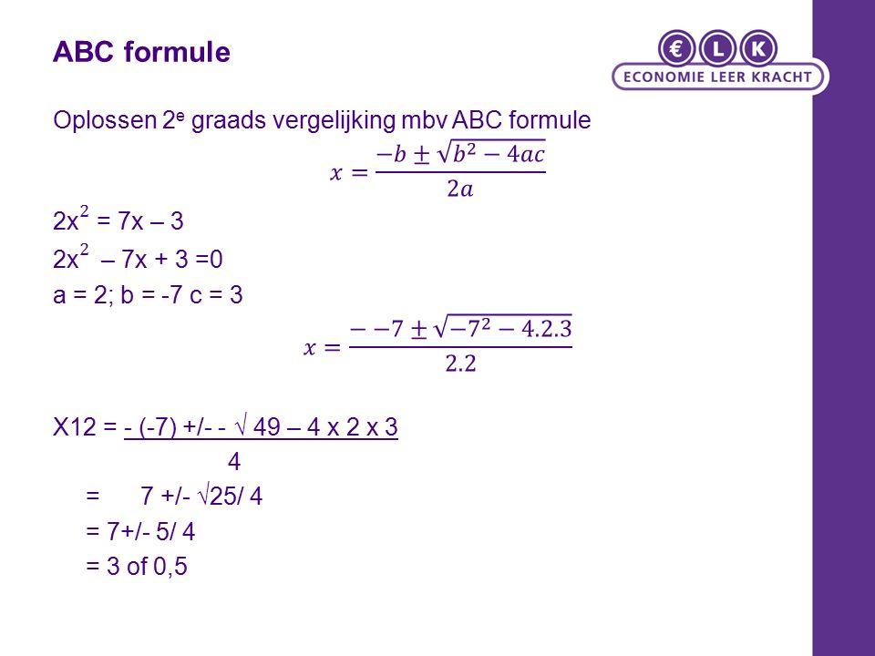 ABC formule