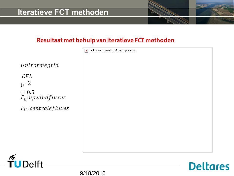 9/18/2016 Iteratieve FCT methoden Resultaat met behulp van iteratieve FCT methoden