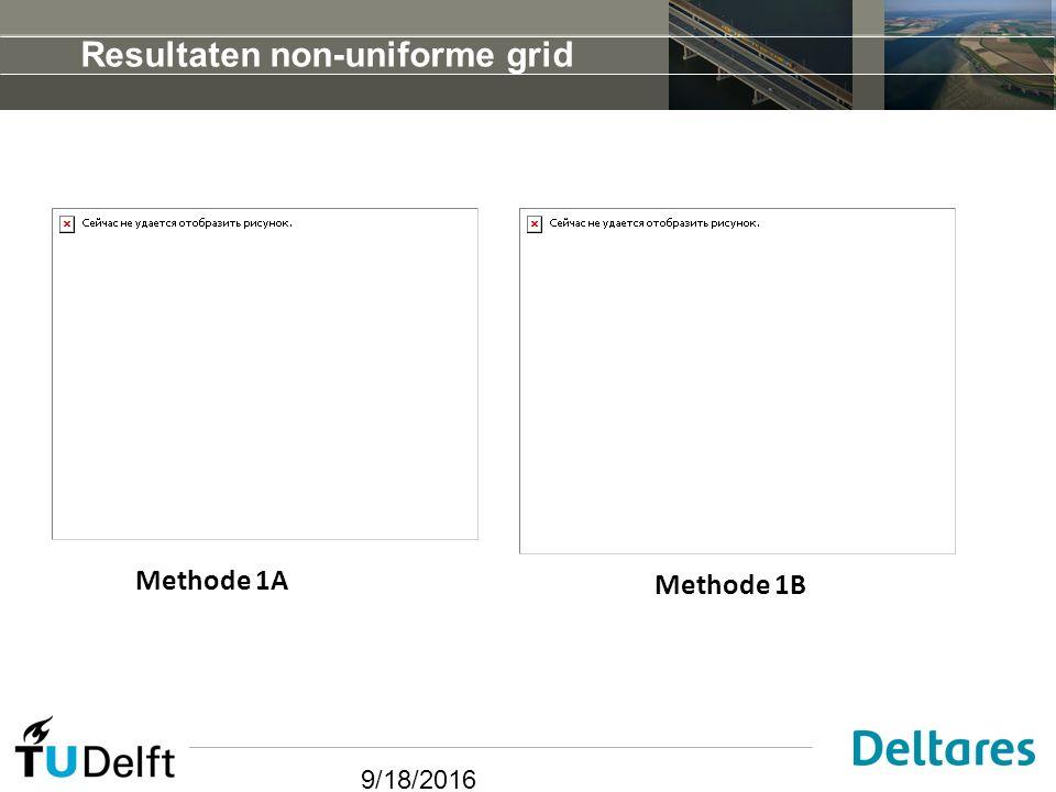 9/18/2016 Resultaten non-uniforme grid Methode 1A Methode 1B