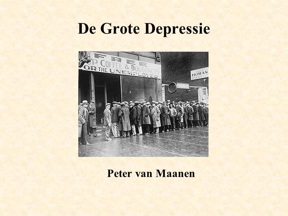 De Grote Depressie Peter van Maanen
