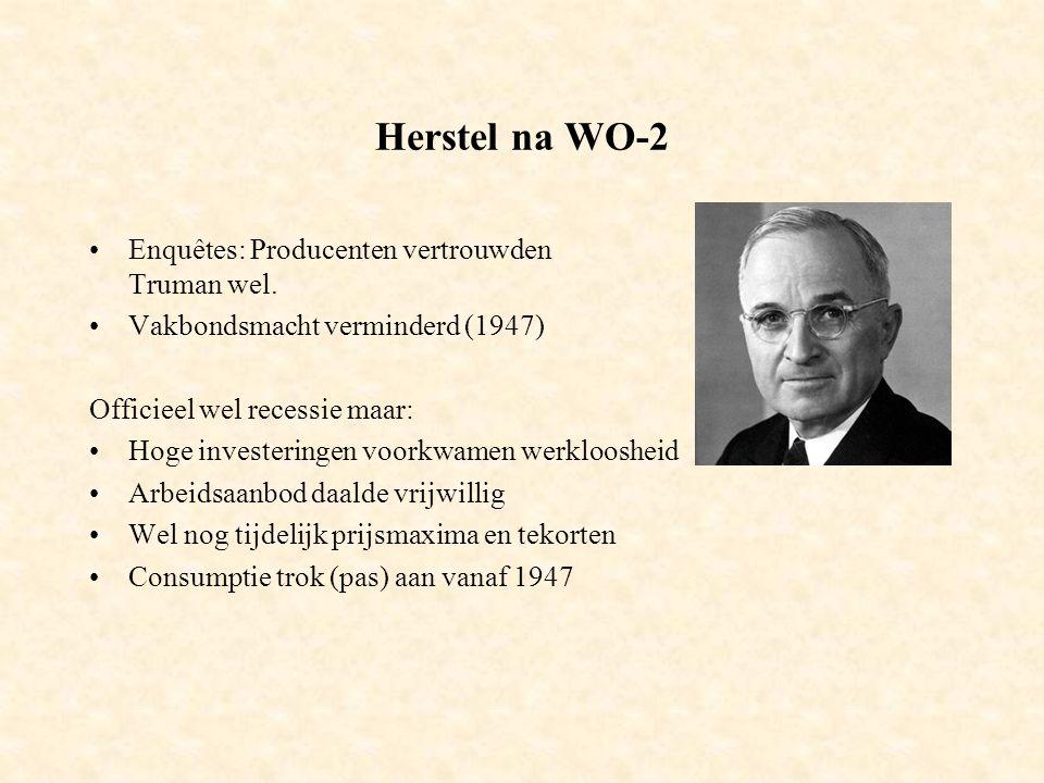 Herstel na WO-2 Enquêtes: Producenten vertrouwden Truman wel.