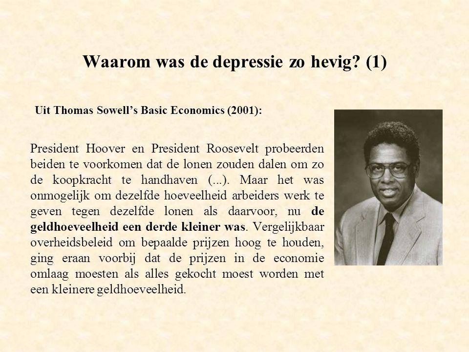 Conclusie: de depressie bevestigde klassieke economische inzichten -de hoogte van de productie is het resultaat van de (efficiënte) inzet van de productiecapaciteit.