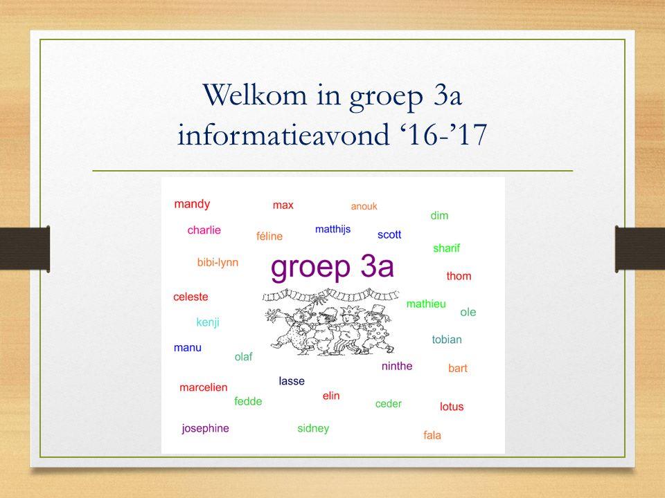 Welkom in groep 3a informatieavond '16-'17