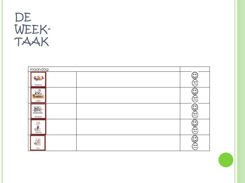 DE WEEK- TAAK