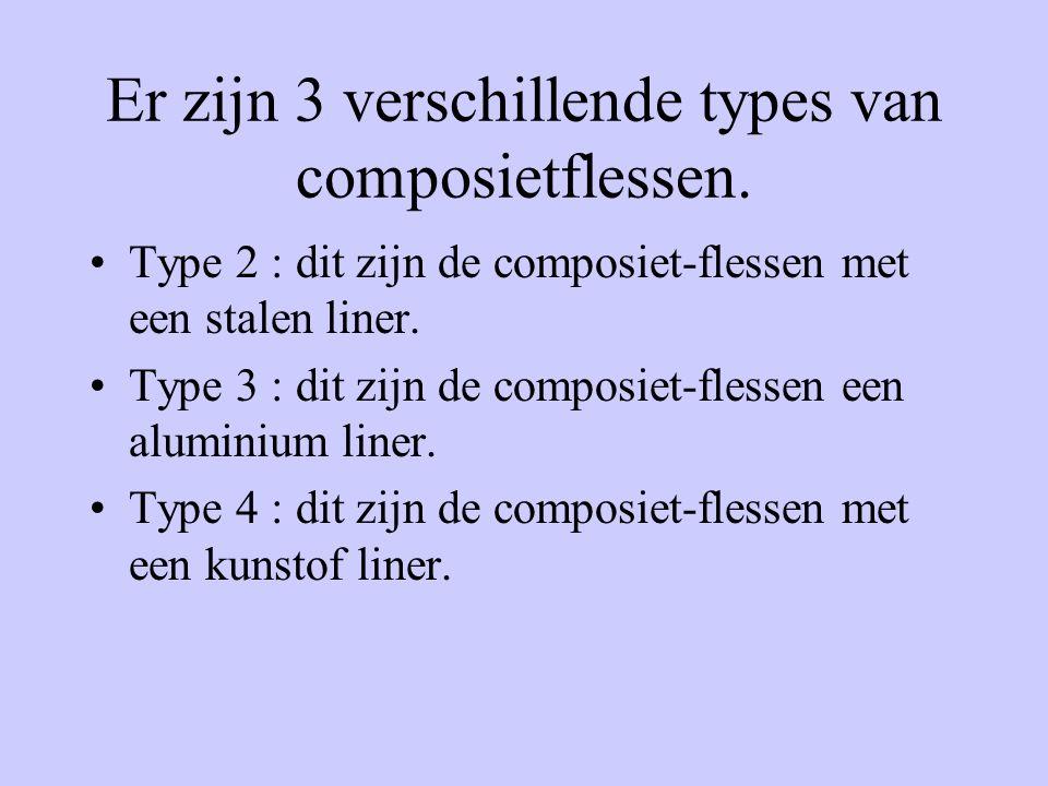 Er zijn 3 verschillende types van composietflessen.