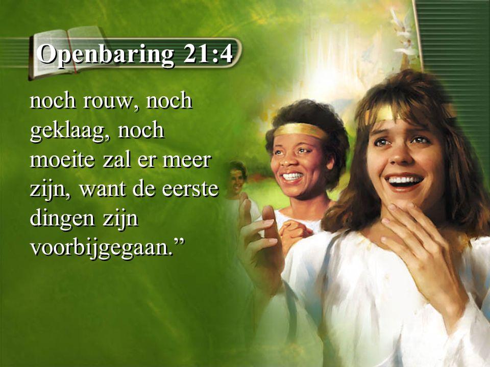 """Openbaring 21:4 noch rouw, noch geklaag, noch moeite zal er meer zijn, want de eerste dingen zijn voorbijgegaan."""""""