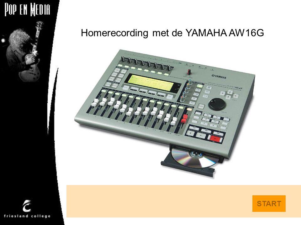 Homerecording met de YAMAHA AW16G START